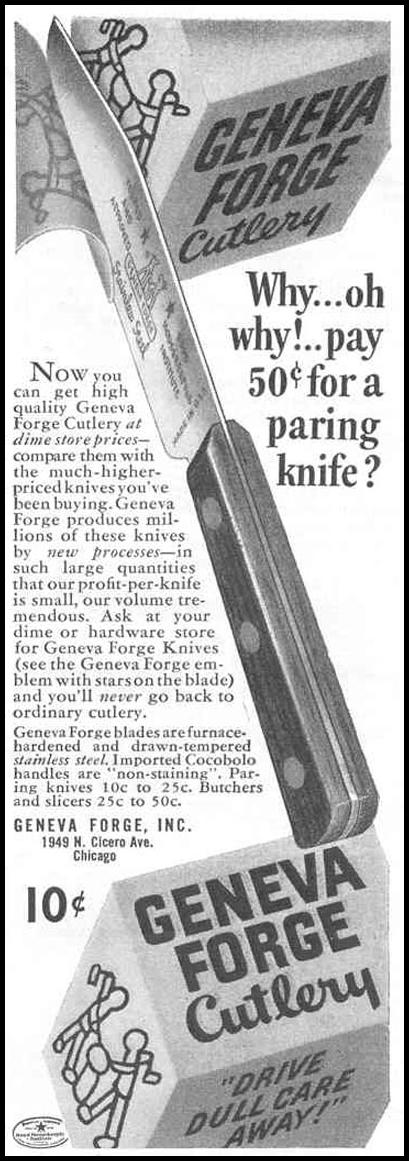 GENEVA FORGE CUTLERY GOOD HOUSEKEEPING 03/01/1940 p. 204