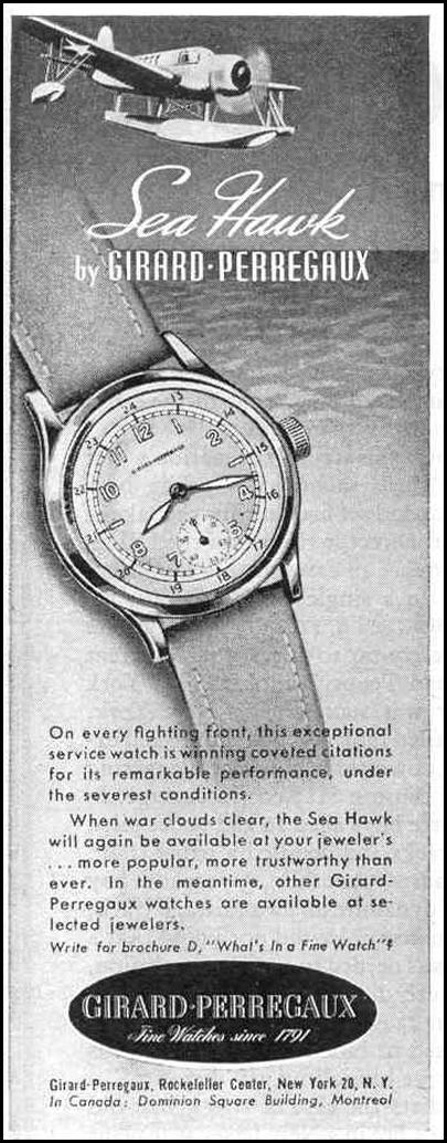 SEA HAWK WRISTWATCHES LIFE 12/20/1943 p. 98