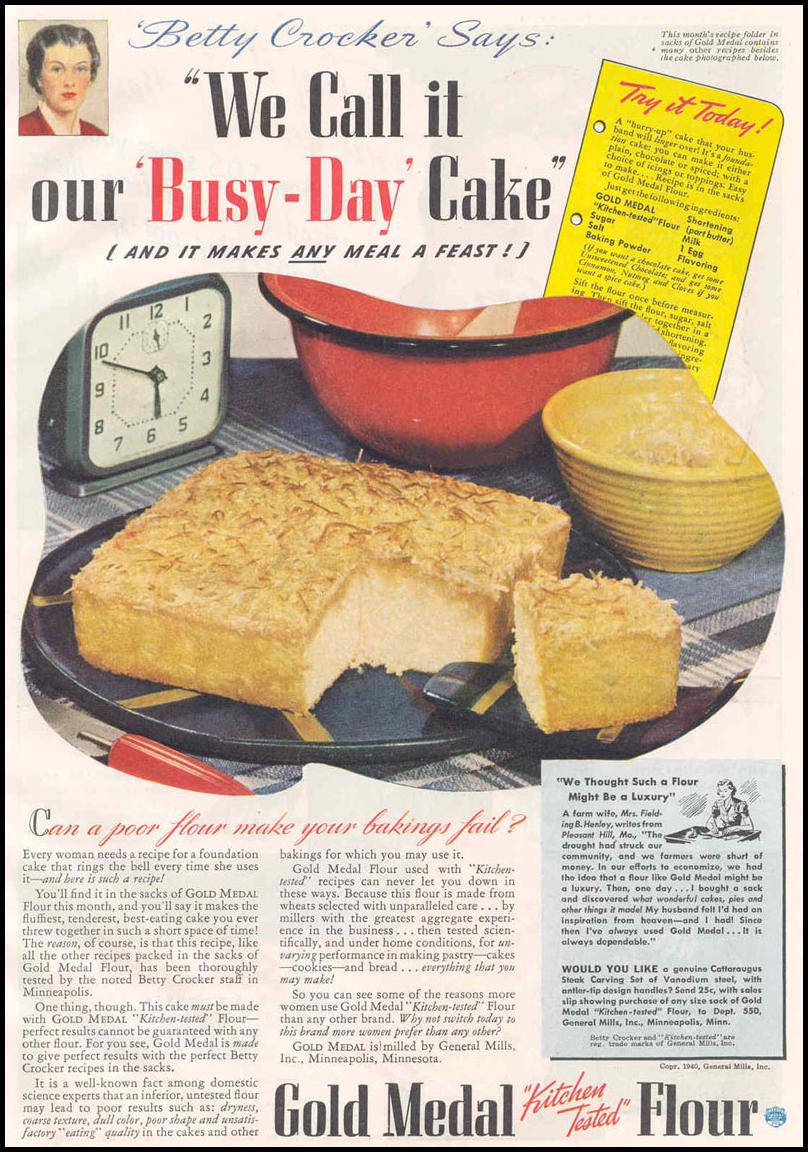 GOLD MEDAL FLOUR GOOD HOUSEKEEPING 03/01/1940 p. 101