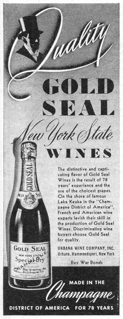 NEW YORK STATE WINES AND CHAMPAGNE LIFE 12/20/1943 p. 98