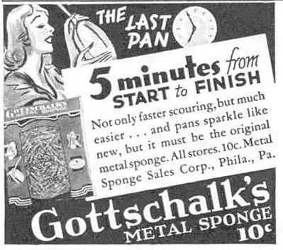 GOTTSCHALK'S METAL SPONGE GOOD HOUSEKEEPING 03/01/1940 p. 186