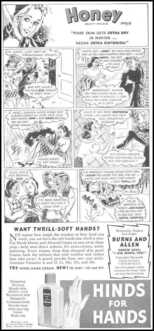 HINDS HAND LOTION GOOD HOUSEKEEPING 03/01/1940 p. 171
