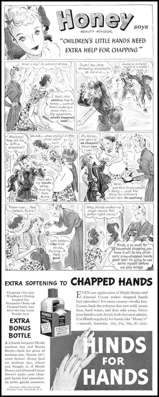 HINDS HAND LOTION LIFE 02/20/1939 p. 69