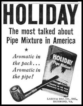 HOLIDAY PIPE MIXTURE LIFE 10/27/1947 p. 140