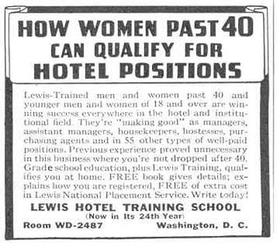 HOTEL TRAINING GOOD HOUSEKEEPING 03/01/1940 p. 186