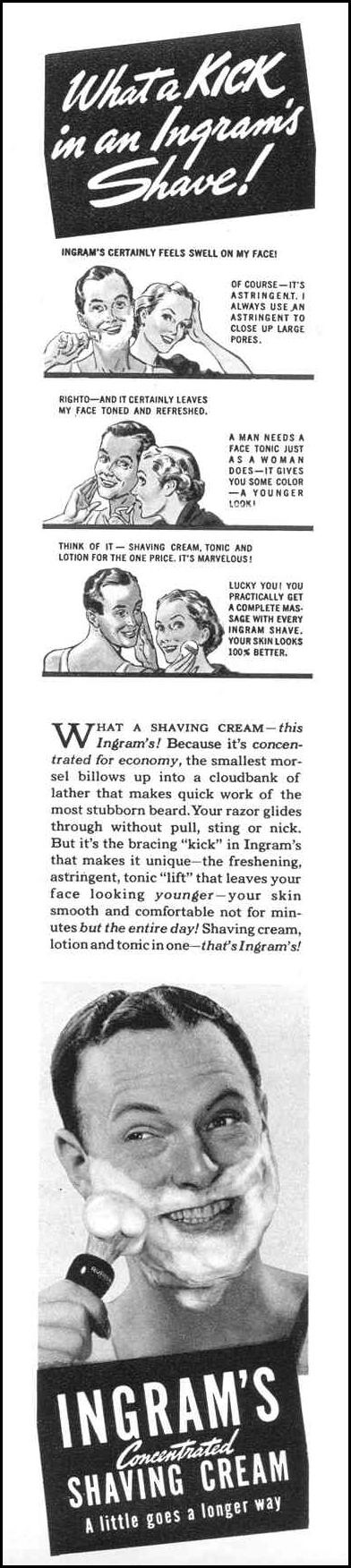 INGRAM'S CONCENTRATED SHAVING CREAM LIFE 09/06/1937 p. 49