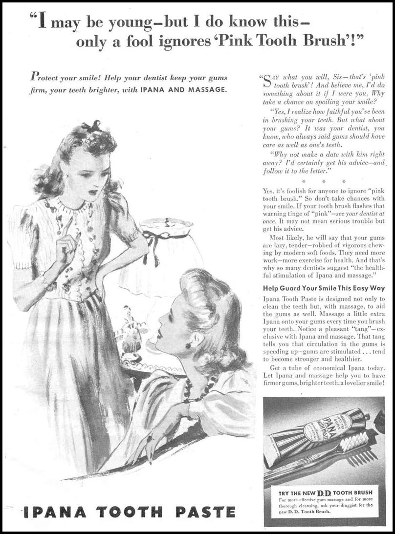 IPANA TOOTHPASTE GOOD HOUSEKEEPING 03/01/1940 p. 1