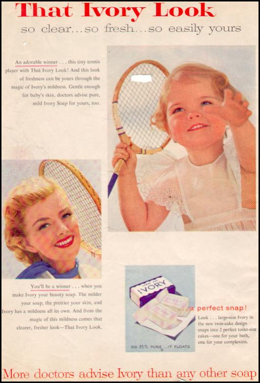 IVORY SOAP PHOTOPLAY 08/01/1956 INSIDE FRONT