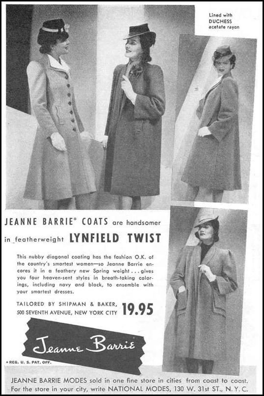 JEANNE BARRIE COATS GOOD HOUSEKEEPING 03/01/1940 p. 197