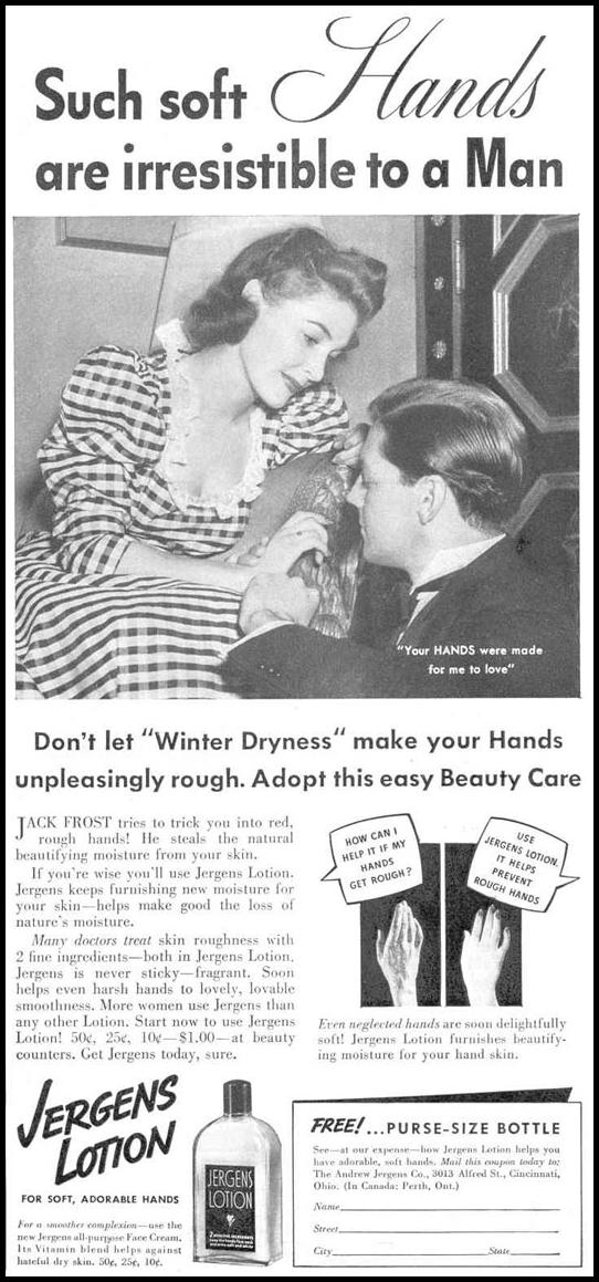 JERGENS LOTION GOOD HOUSEKEEPING 03/01/1940 p. 97