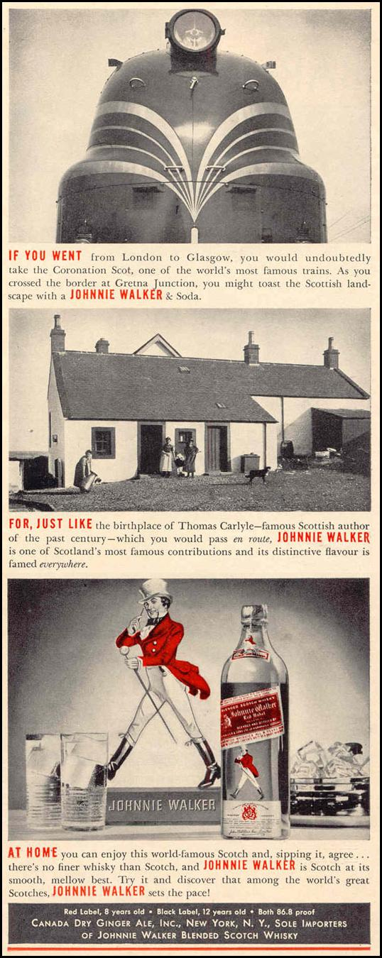 JOHNNIE WALKER SCOTCH WHISKEY LIFE 03/18/1940 p. 51