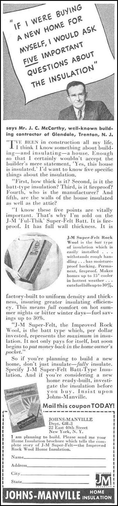 HOME INSULATION GOOD HOUSEKEEPING 03/01/1940 p. 168