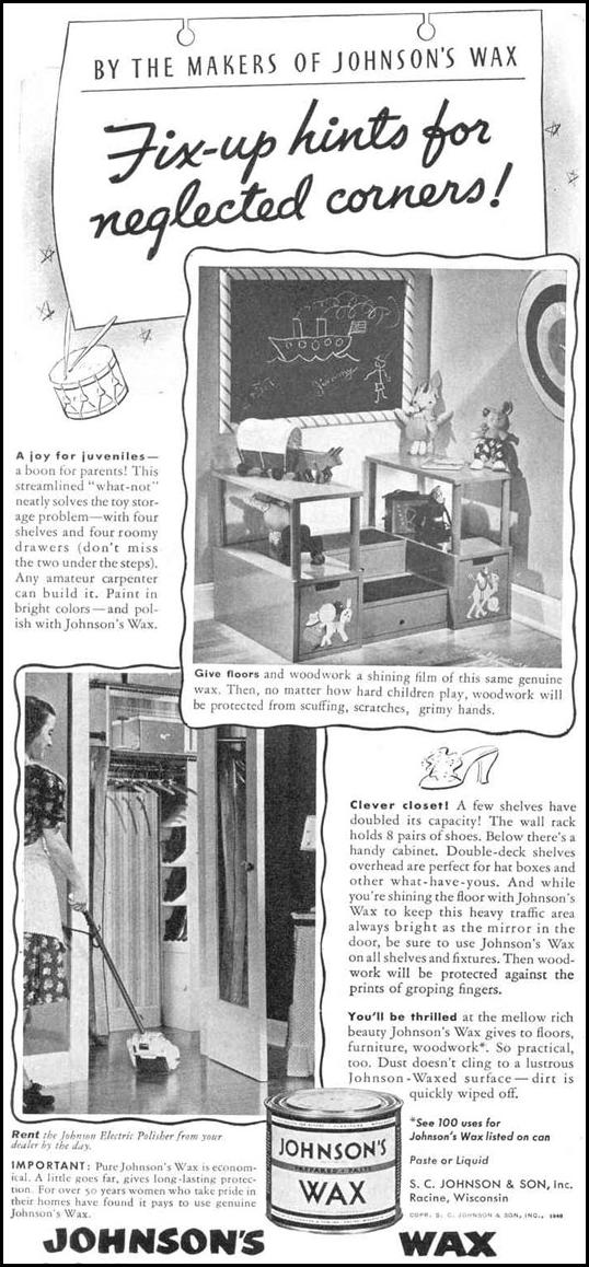 JOHNSON'S WAX GOOD HOUSEKEEPING 03/01/1940 p. 122