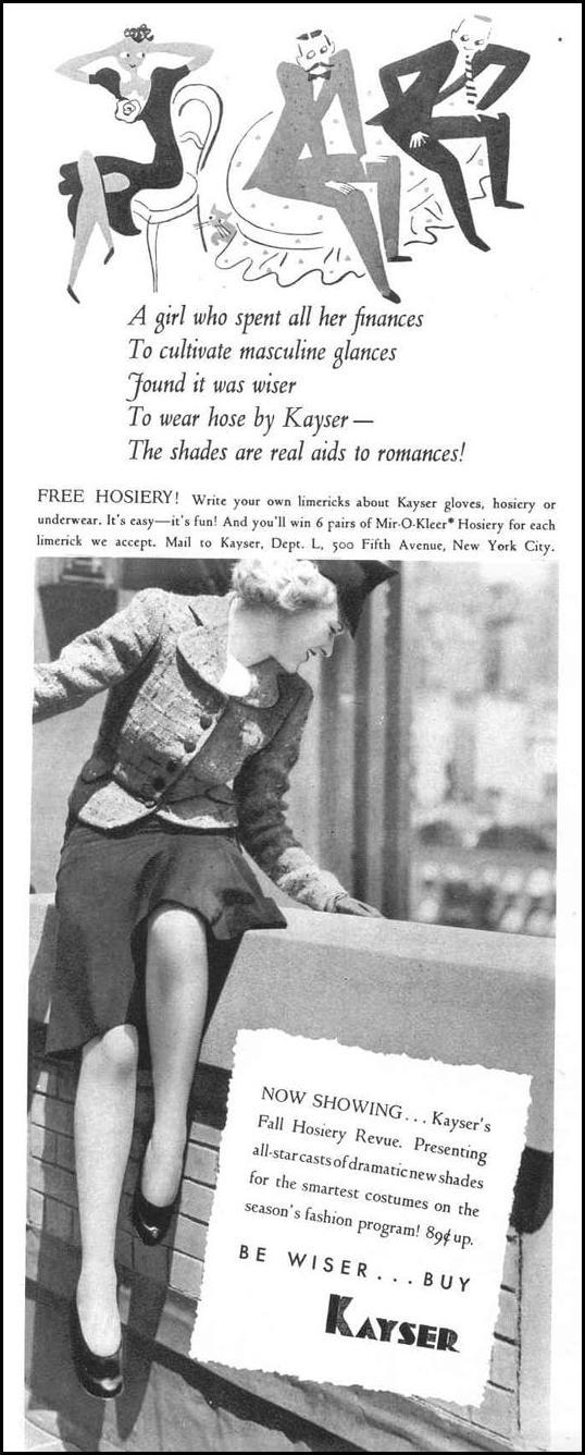 KAYSER HOSIERY LIFE 09/06/1937 p. 50