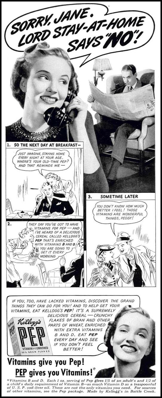 KELLOGG'S PEP CEREAL LIFE 02/20/1939 p. 11