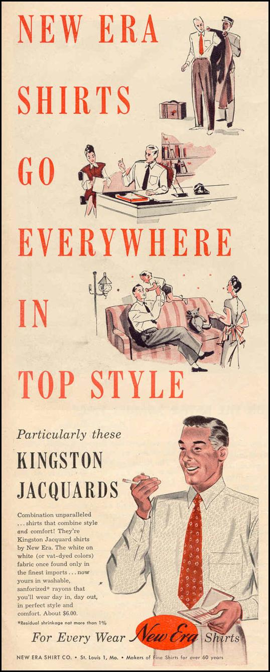 KINGSTON JACQUARD SHIRTS LIFE 10/27/1947 p. 88