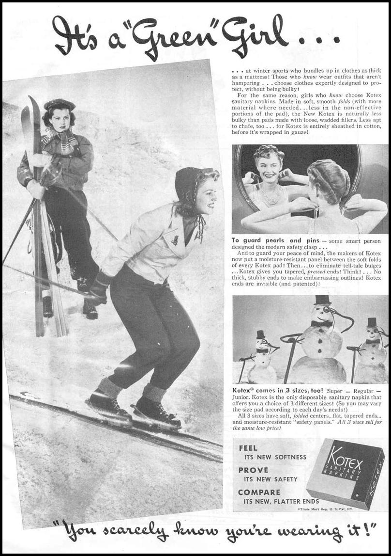 KOTEX GOOD HOUSEKEEPING 03/01/1940 p. 87