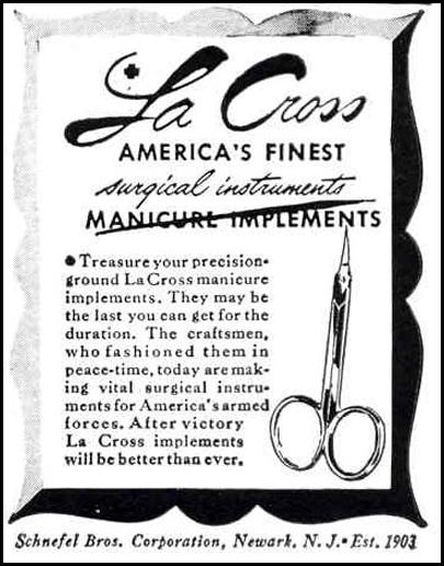 LA CROSS MANICURE IMPLEMENTS LIFE 12/20/1943 p. 4
