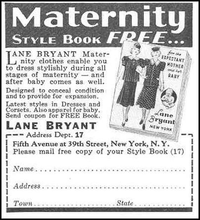 MATERNITY STYLE BOOK GOOD HOUSEKEEPING 03/01/1940 p. 187