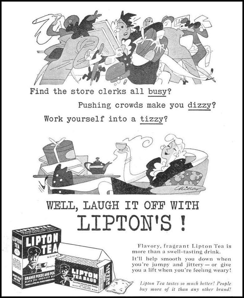 LIPTON TEA LIFE 12/20/1943 p. 66
