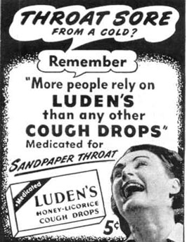 LUDEN'S COUGH DROPS LIFE 10/27/1947 p. 128