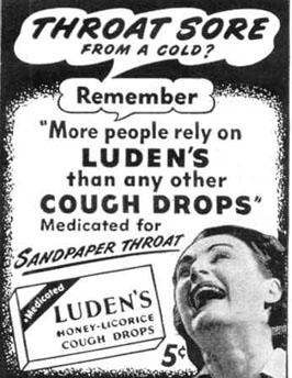 LUDEN'S COUGH DROPS LIFE 10/27/1947 p. 128
