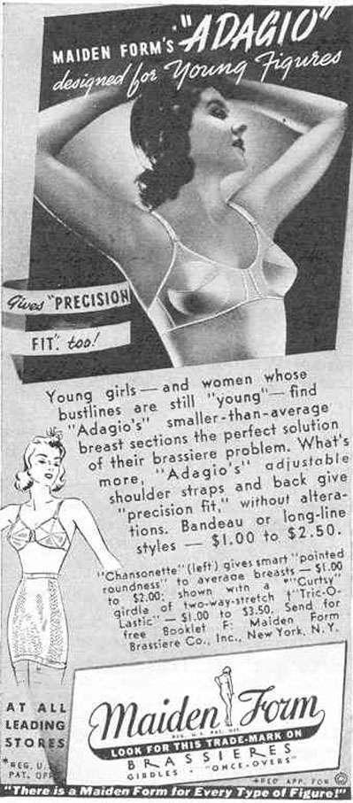 MAIDENFORM BRA GOOD HOUSEKEEPING 03/01/1940 p. 194
