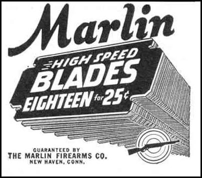 MARLIN RAZOR BLADES LIFE 12/20/1943 p. 98