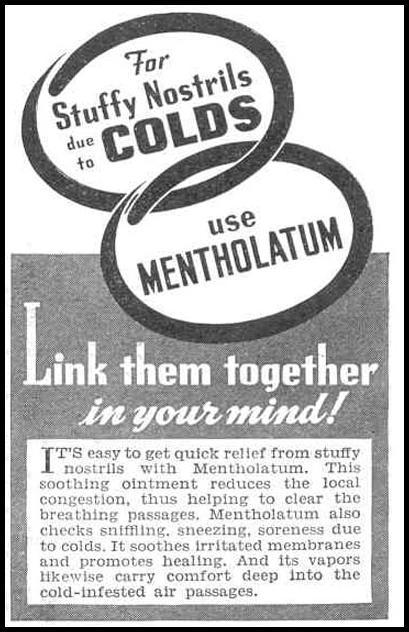MENTHOLATUM OINTMENT GOOD HOUSEKEEPING 03/01/1940 p. 174