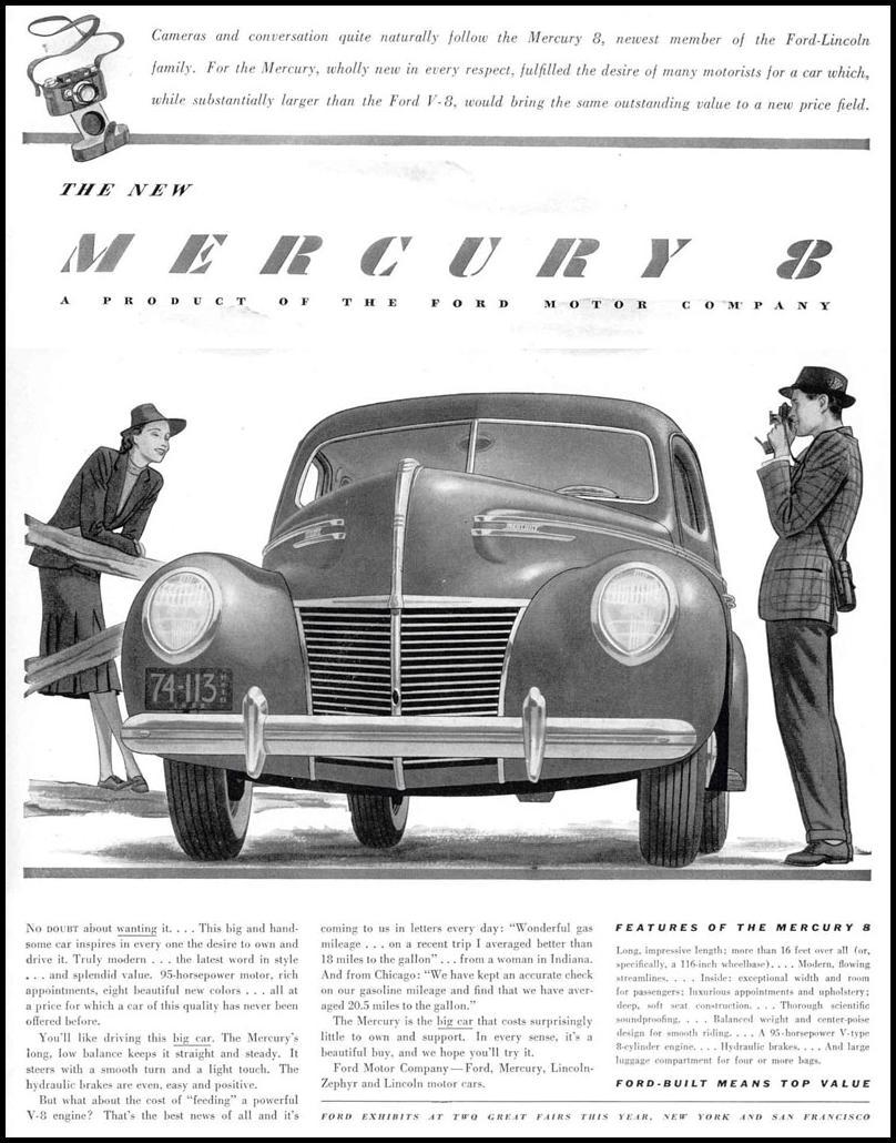 MERCURY AUTOMOBILES LIFE 02/20/1939 p. 3