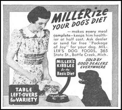 MILLER'S KIBBLES DOG FOOD GOOD HOUSEKEEPING 03/01/1940 p. 192
