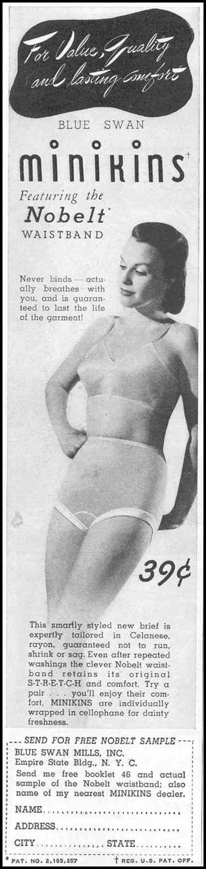 BLUE SWAN UNDIES GOOD HOUSEKEEPING 03/01/1940 p. 176