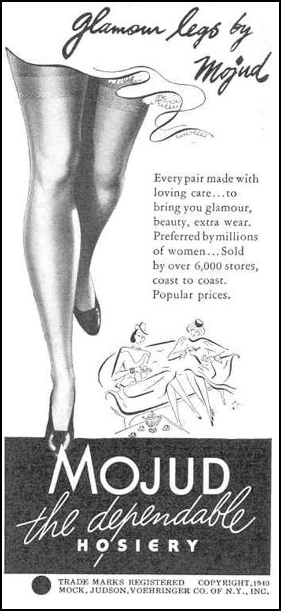 MOJUD HOSIERY GOOD HOUSEKEEPING 03/01/1940 p. 194
