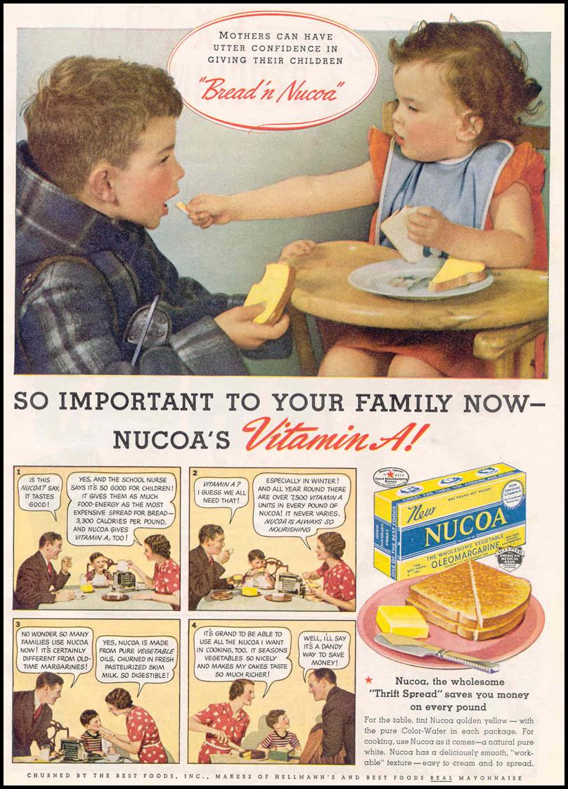 NUCOA OLEO MARGARINE GOOD HOUSEKEEPING 03/01/1940 p. 19