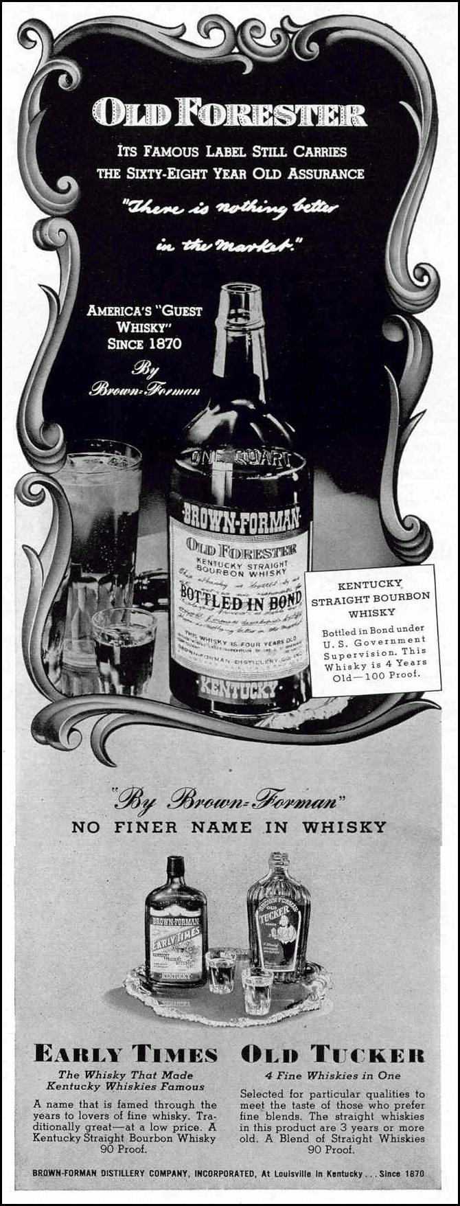 OLD FORESTER WHISKEY LIFE 02/20/1939 p. 71