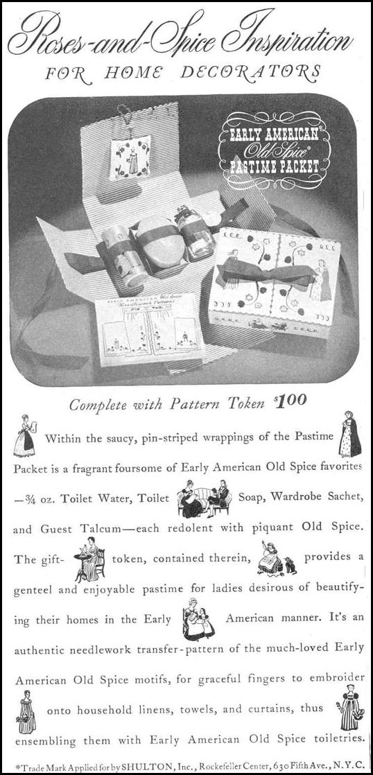 OLD SPICE TOILETRIES GOOD HOUSEKEEPING 03/01/1940 p. 130