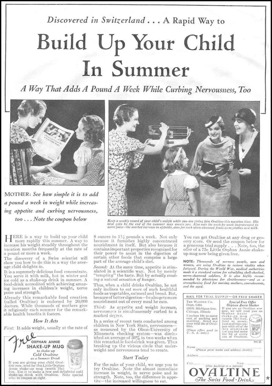 OVALTINE GOOD HOUSEKEEPING 06/01/1933 p. 118