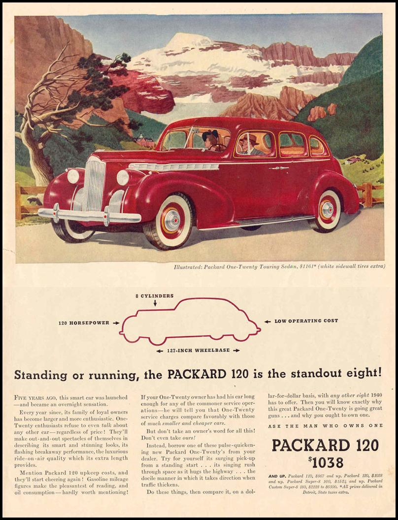 PACKARD AUTOMOBILES LIFE 03/18/1940