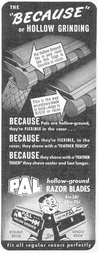 PAL HOLLOW-GROUND RAZOR BLADES LIFE 02/14/1944 p. 4