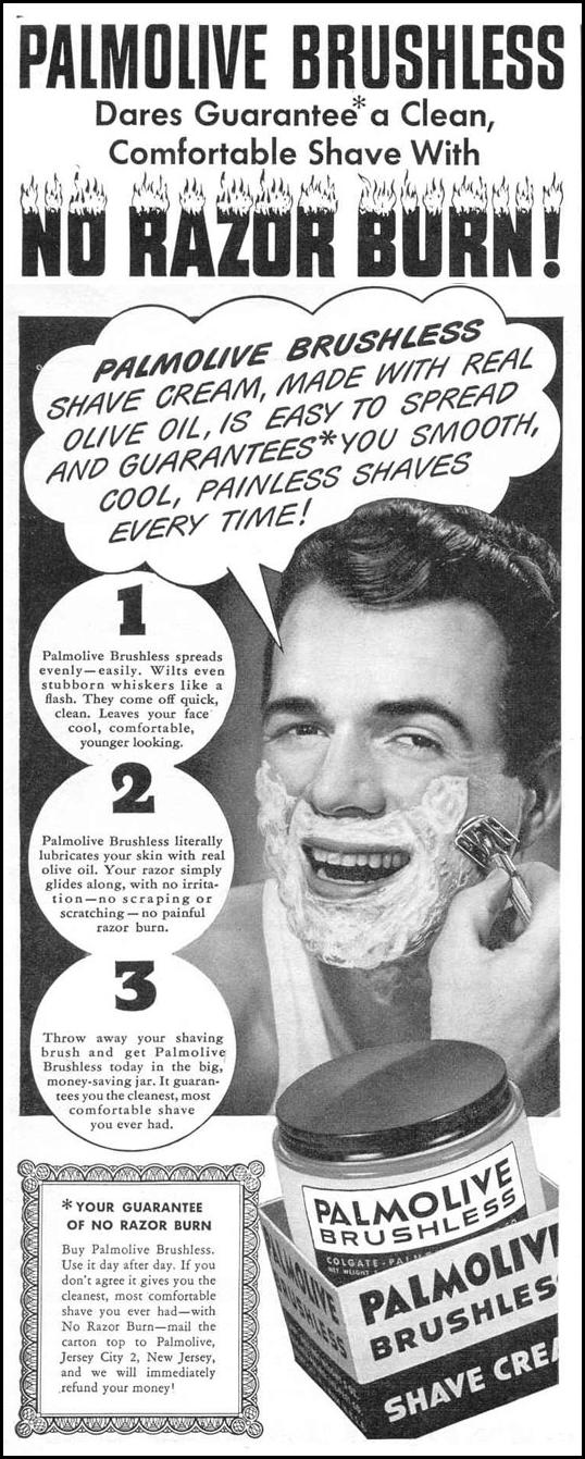 PALMOLIVE BRUSHLESS SHAVE CREAM LIFE 11/01/1943 p. 2