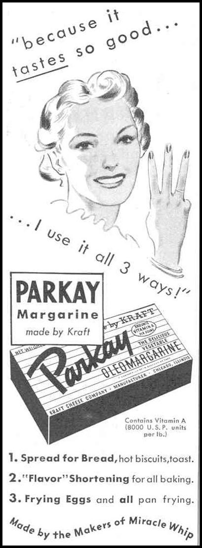 PARKAY OLEOMARGARINE GOOD HOUSEKEEPING 03/01/1940 p. 192