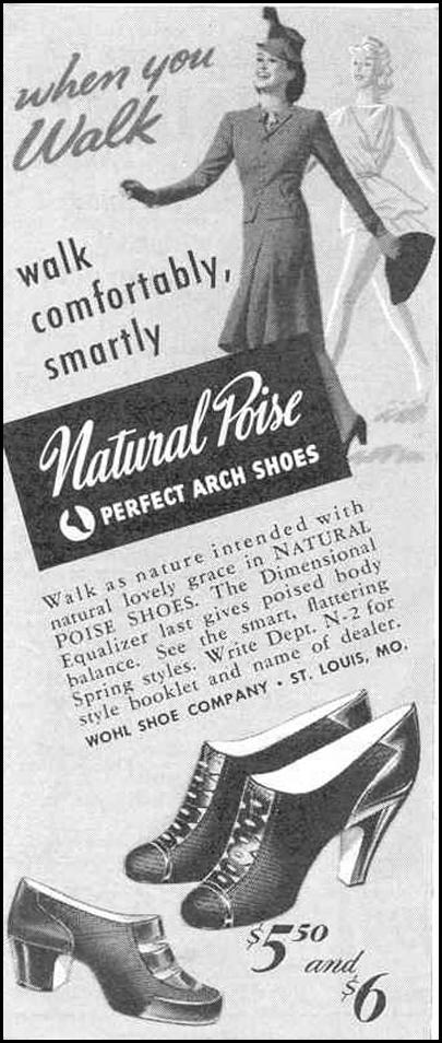 PERFECT POISE NATURAL ARCH SHOES GOOD HOUSEKEEPING 03/01/1940 p. 194