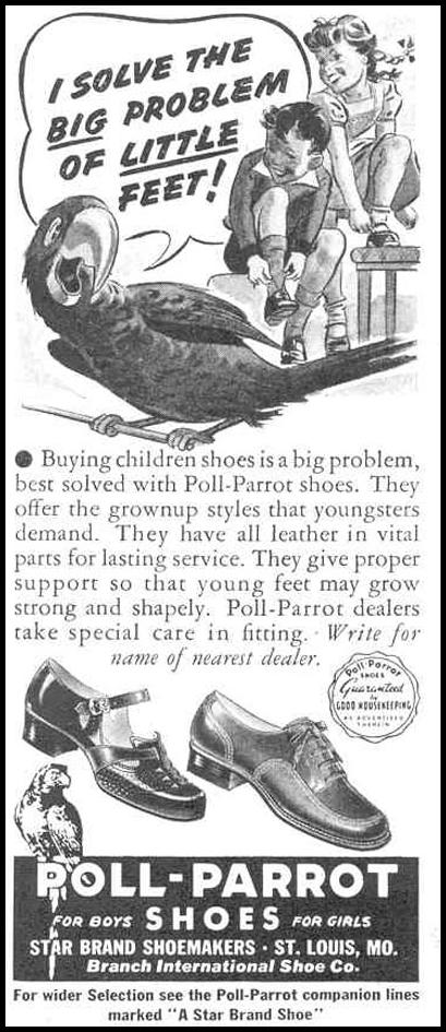 POLL-PARROT CHILDREN'S SHOES GOOD HOUSEKEEPING 03/01/1940 p. 170