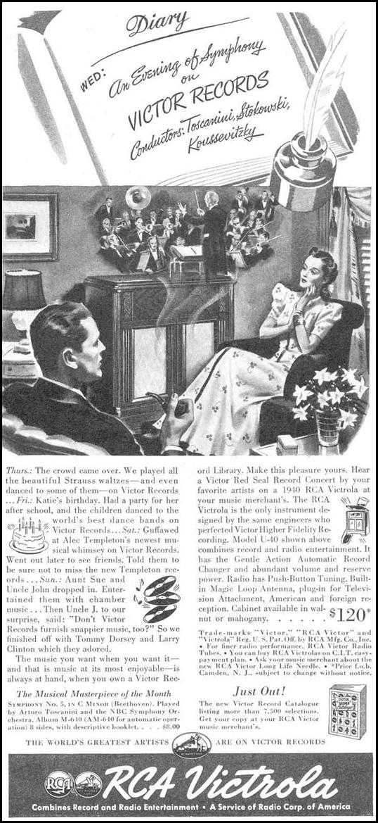 RCA VICTOR RECORDS GOOD HOUSEKEEPING 03/01/1940 p. 163