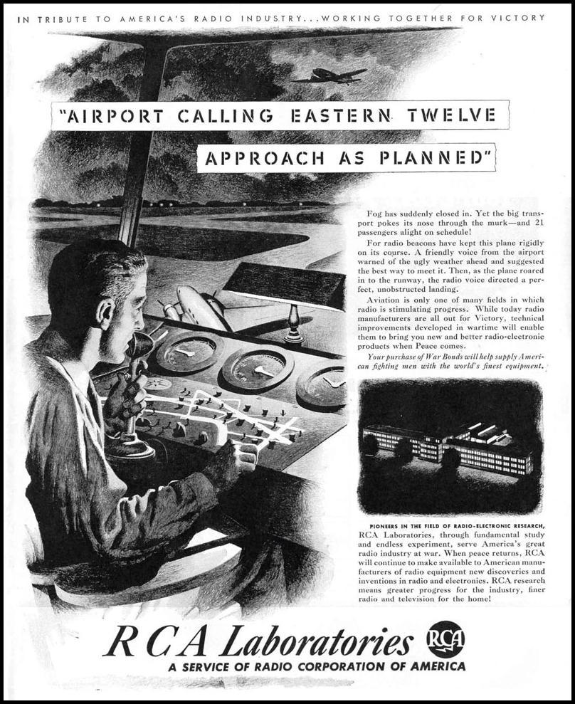 RCA LABORATORIES LIFE 12/20/1943 p. 43