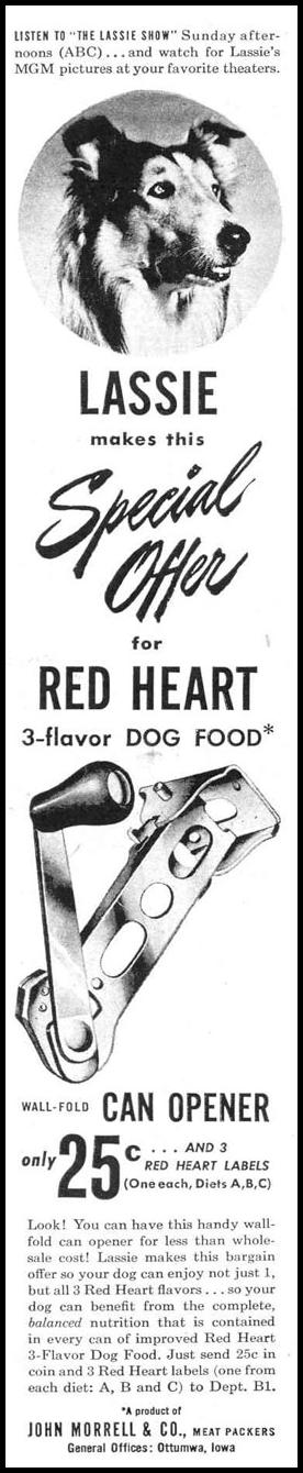 RED HEART DOG FOOD LIFE 10/27/1947 p. 134