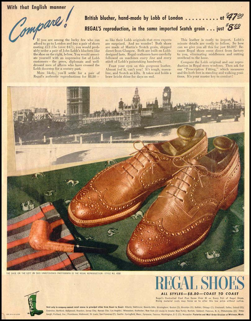 REGAL SHOES LIFE 10/27/1947