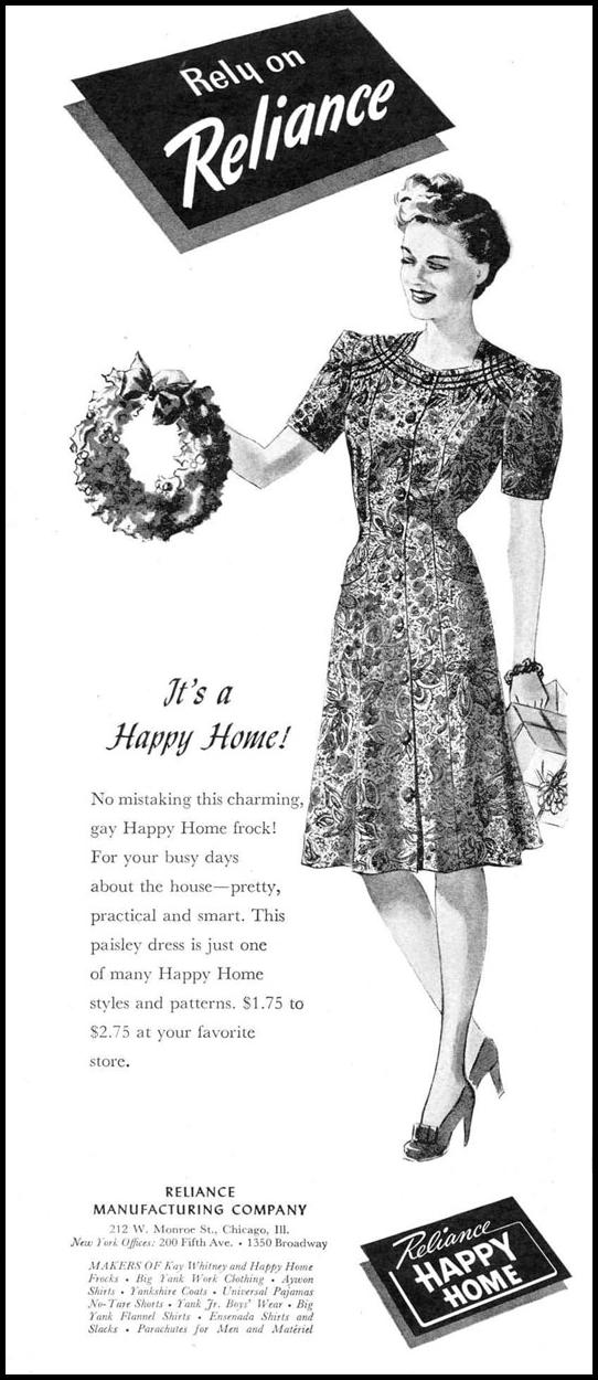 HAPPY HOME FROCKS LIFE 12/20/1943 p. 14