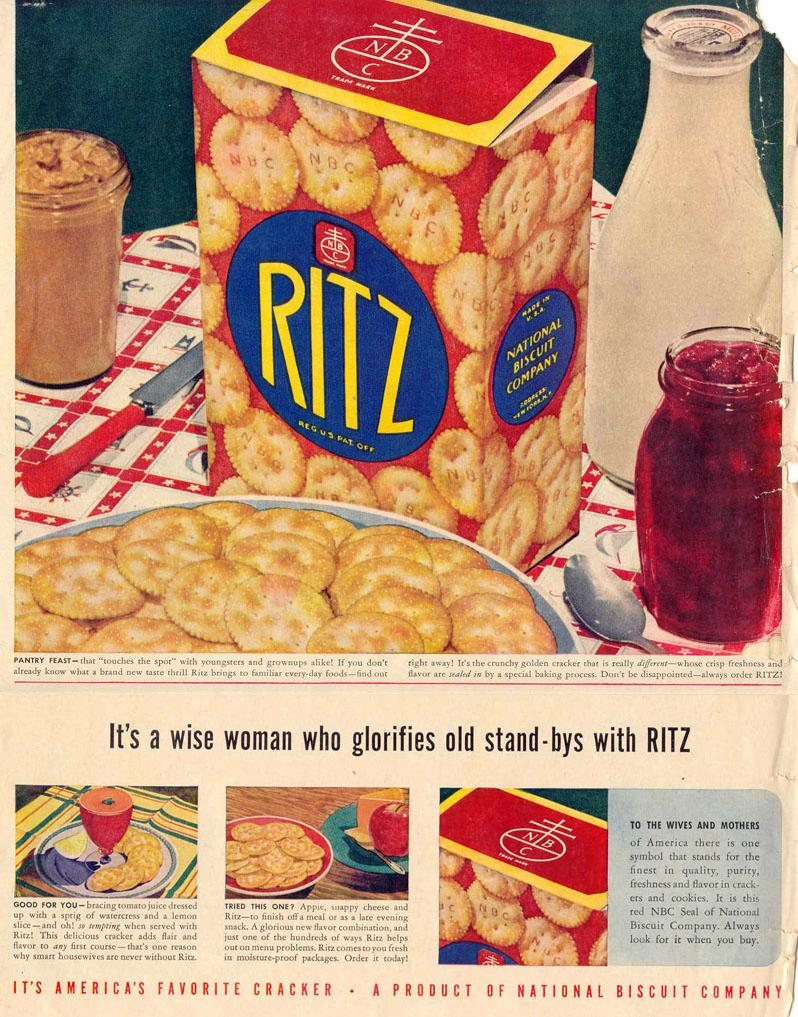 RITZ CRACKERS LIFE 10/27/1947