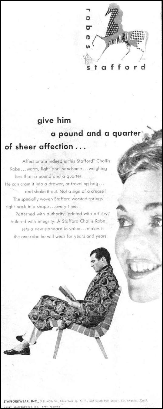 STAFFORD CHALLIS ROBE LIFE 10/27/1947 p. 95